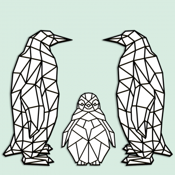 GeoZoo Penguin Family Pieces